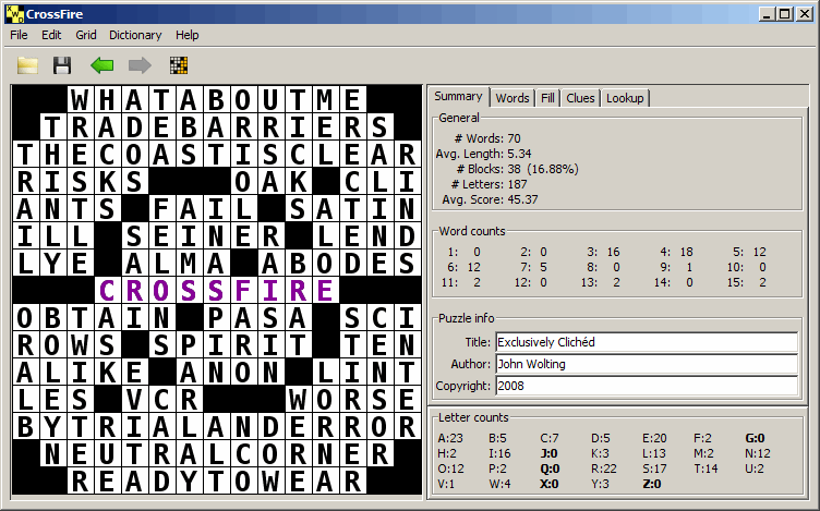 free crossword compiler for mac