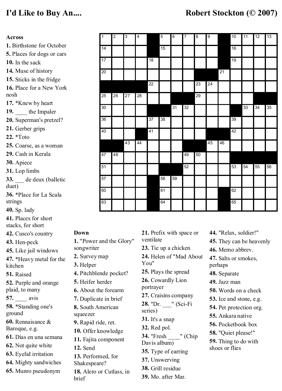 It's just a picture of Accomplished Free Daily Crossword Puzzles Printable