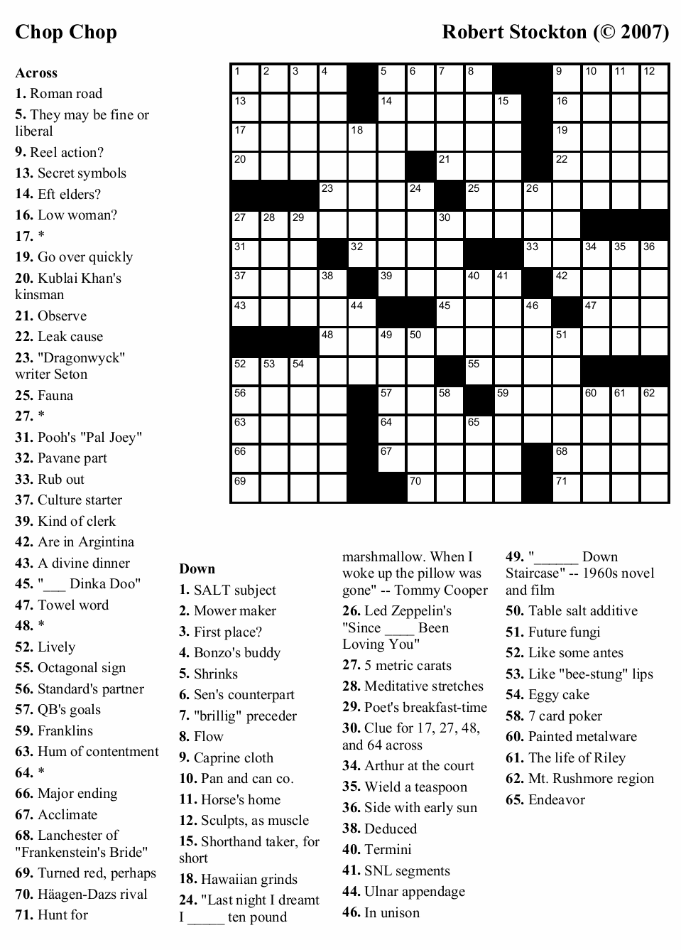 Pin Large Print Easy Crossword Puzzles on Pinterest