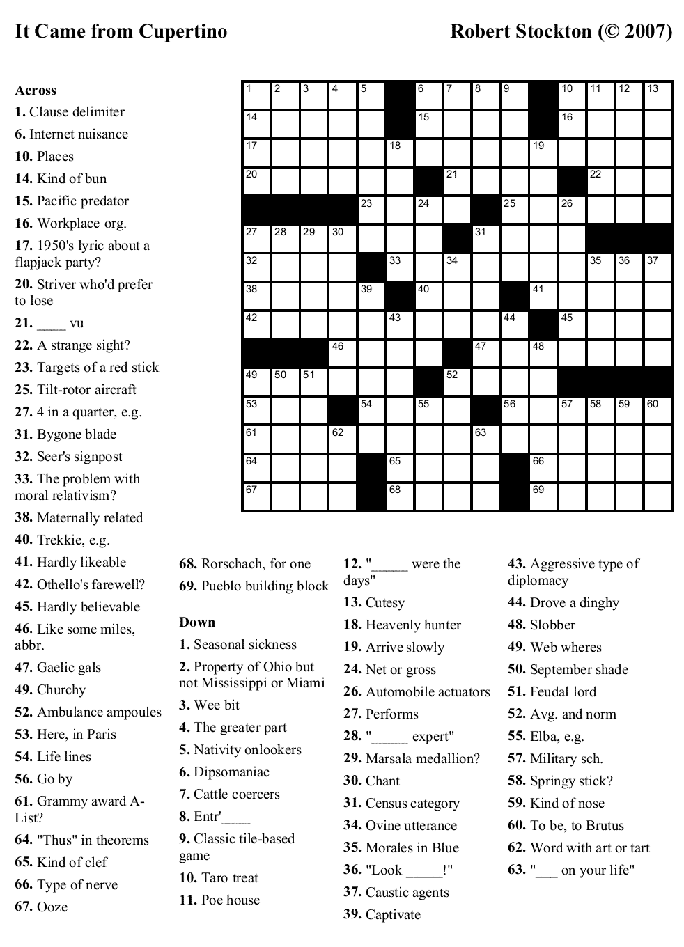 Thomas Joseph April 2 Crossword Answers