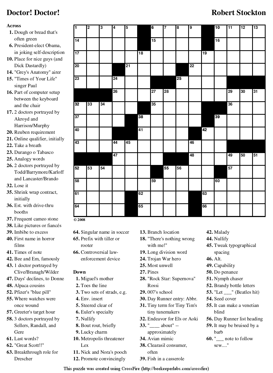 photograph regarding Daily Printable Crossword titled Beekeeper Crosswords
