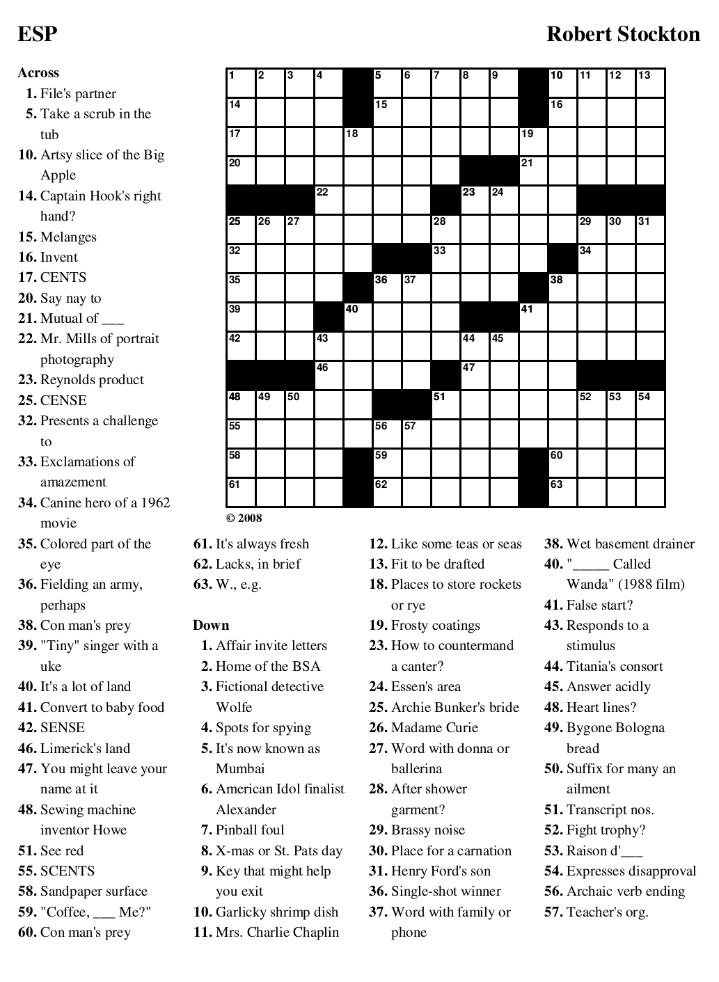 ten crossword maker