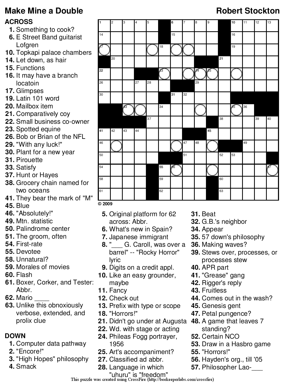 ... The Large Printable Crossword Puzzles Previous Crossword Puzzles Next