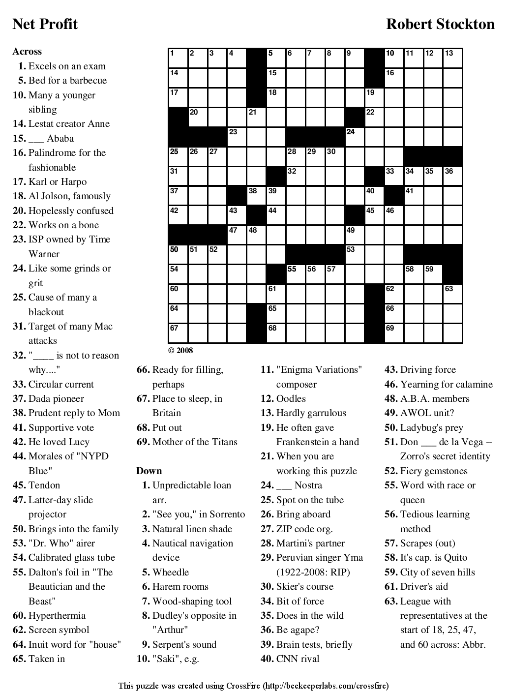 Download Crossword Puzzle