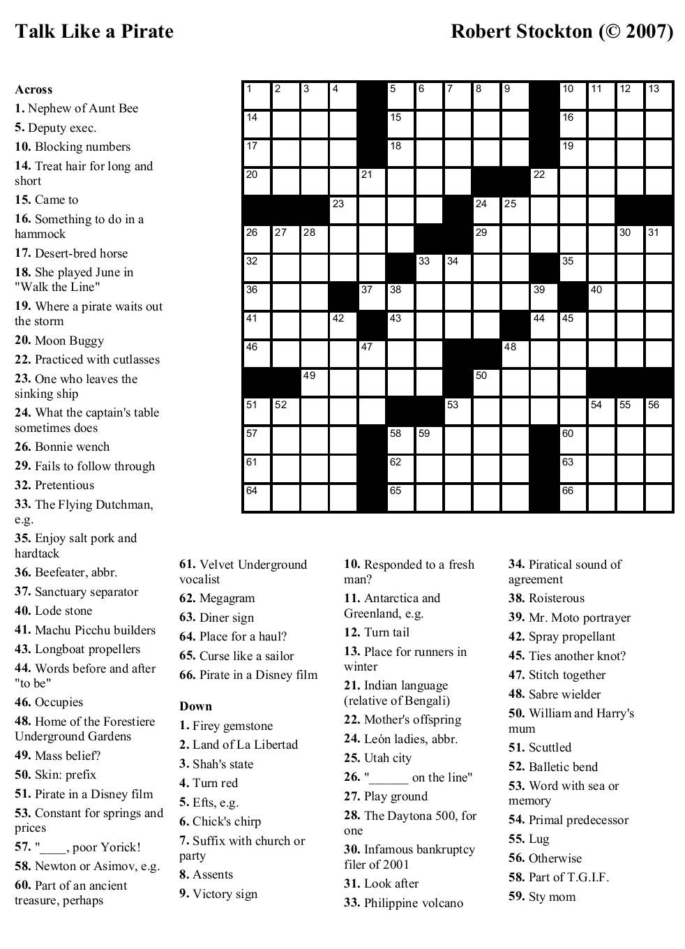 the puzzle and the solution - Halloween Crossword Puzzles With Answers