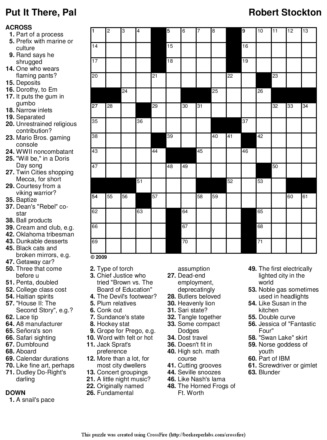 Witty banter crossword