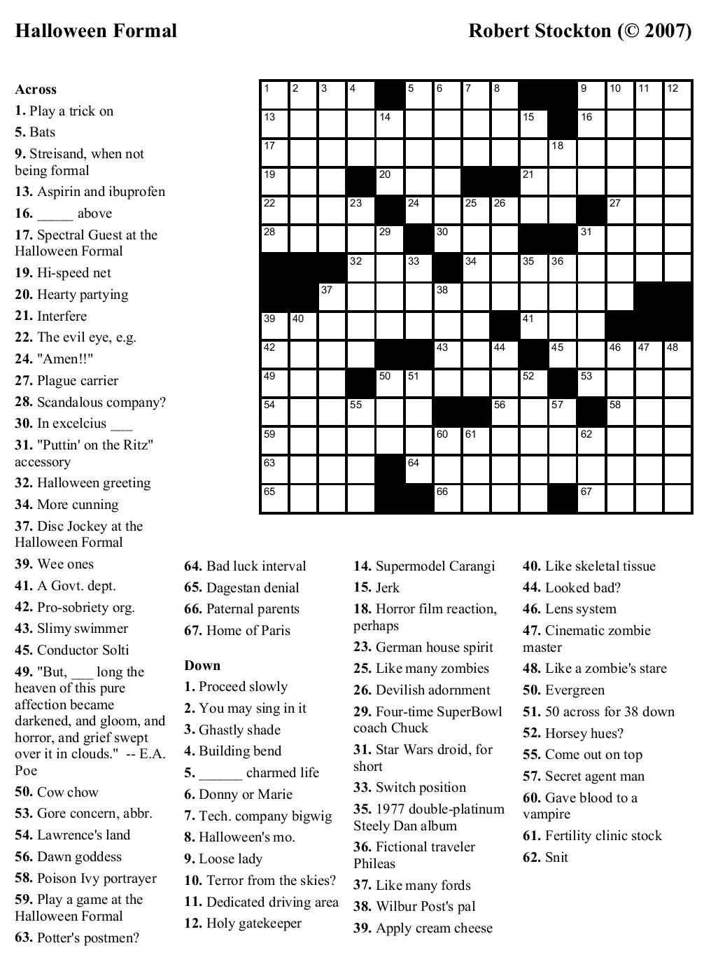 boatloadcucf - crossword puzzles printable